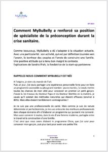 Comment MyBuBelly a renforcé sa position de spécialiste de la préconception durant la crise sanitaire.